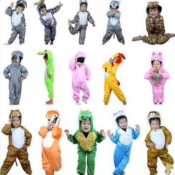 Animal Dinosaur Cat Dog Costume One Piece Pajamas Onesuits Kids Children Boy Girls Anime Christmas Halloween Cospaly Costume