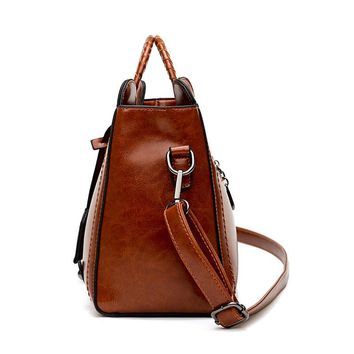 Fashion Tassel Leather Women Handbag