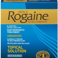 Rogaine for Men Hair Regrowth Treatment, Extra Strength Original Unscented, Set of 3, 2-Ounce Bottles   AihaZone Store