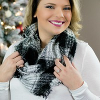 Black and White Infinity Scarf
