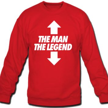 The man The Legend Crew Neck