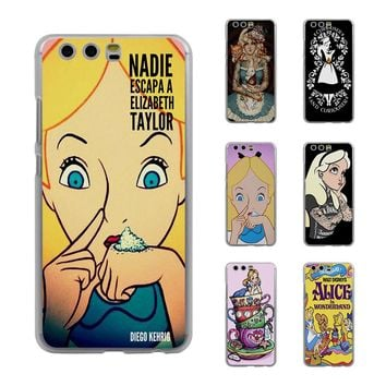 Princess Jasmine Tattooed Alice in Wonderland Style Thin transparent phone Cover Case for Huawei P20 Lite P10 P10lite P8 P9 lite