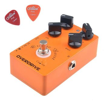 CP-18 OD Guitar Pedals Overdrive Guitar Effect Pedal Orange Burst CP18 Caline Guitar Amplifier OD Effect Pedal Contain 2 Picks