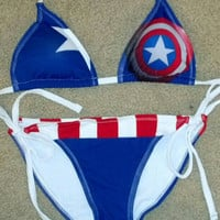 Captain America Cosplay Bikini