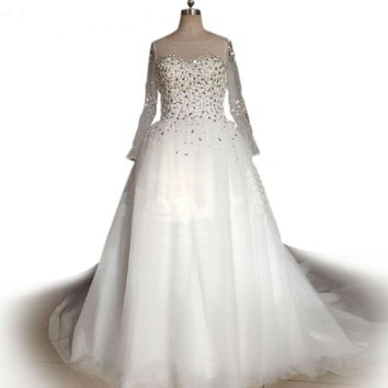 Ball Gown Wedding Dress crystal sequin wedding dress