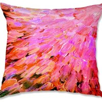 Decorative Woven Couch / Throw Pillow from DiaNoche Designs by Julia Di Sano Unique Bedroom, Living Room and Bathroom Ideas - Sea Scales in Pink