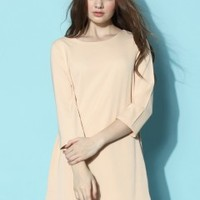 Breezy Shift Dress in Nude - Dress - Retro, Indie and Unique Fashion