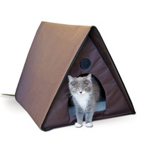 Heated Outdoor Cat House Shelter Waterproof Weather Resistant