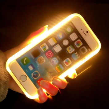 Llluminated Selfie Case Light Up Led Cell Phone Cases for Iphone 6 6s plus