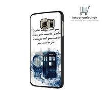 Tardis Doctor Who Smoke Quotes For Samsung Galaxy S6| S6 Edge Case