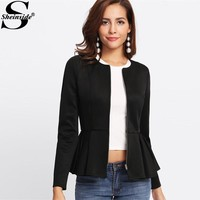 Peplum Blazer Shawls, Cardigans, Sweaters Jackets Shop Womens Cute Dresses
