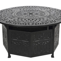 Bombay™  Fairmont Bronze Chat Height Gas Fire Pit Table w/Doors & Accessories