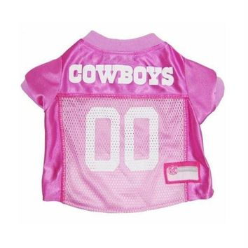 ESBONI Dallas Cowboys Pink Dog Jersey