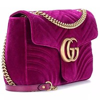 Gucci Women's GG Marmont Medium Velvet Shoulder Bag