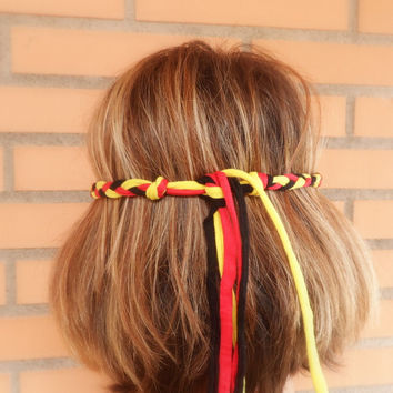Germany headband for the World Cup 2014 Brazil. Adult headband for women for German soccer fans.