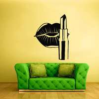 Wall Vinyl Sticker Decals Decor Art Bedroom Design Mural Wall Decal Angel Lips Sexy Pomade (z2081)