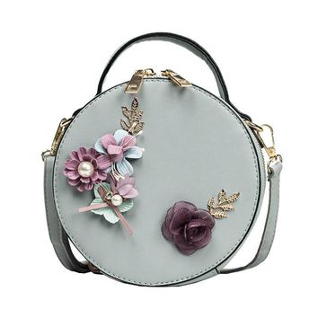 Hot Sale Vintage Flower Round Bags Summer New Handbags Candy-Colored Mini Bun Small Woven Women Bag Round Top Quality Day Clutch