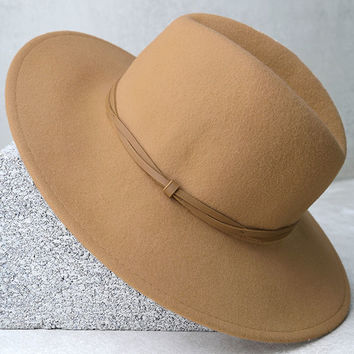 Wyeth Moonstone Tan Fedora Hat