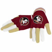 Florida State University FSU Seminoles Collectibles Multi Colored Knit Gloves Ladies One Size
