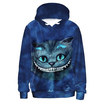 Grinning Cheshire Cat Trippy Hoodie