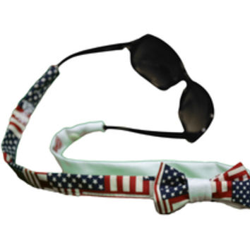 Bow, Bowtie, Sunglassstraps, croakies, usa, america,