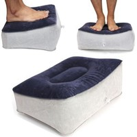 PVC Inflatable Foot Rest Pillow Cushion Travel Relax Reduce DVT Risk on Flights For Relaxing Foot Tools