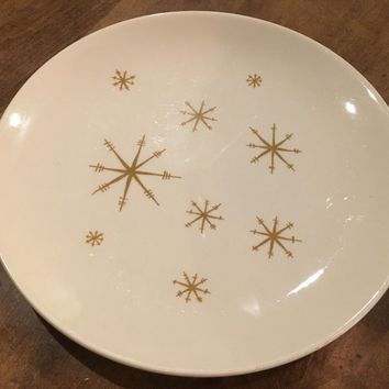 "Vintage ROYAL CHINA STAR GLOW Atomic Starburst Replacement 10"" Dinner Plate"