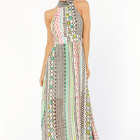 Print to Be Ivory Print Maxi Dress