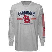 Majestic St. Louis Cardinals Added Value Long Sleeve T-Shirt - Ash