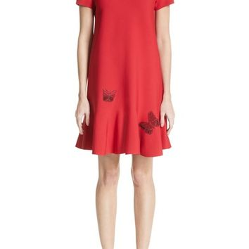 Valentino Butterfly Appliqué Dress | Nordstrom