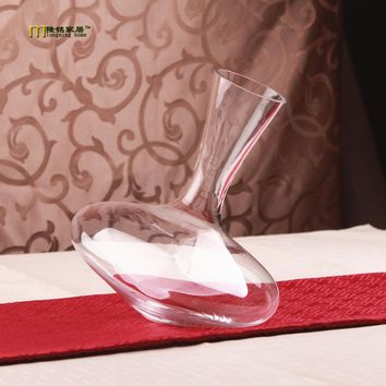 1PC Longming Home 1200ml Vintage Whiskey Wine Decanter Glass Container Glass Cystal Glass Wine Pourer Bar Wine Tools JS 1107