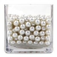 Ivory 12mm Loose Pearls Vase Fillers [424295] : Wholesale Wedding Supplies, Discount Wedding Favors, Party Favors, and Bulk Event Supplies
