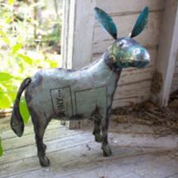 Donkey Handcrafted Recycled Metal Yard Art Sculpture