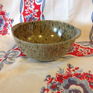 Vintage Cofetti Bowl- Speckled- Melamine- Melmac- Retro Kitchen Bowl- Serving