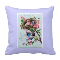 Vintage Easter Moral Pillow