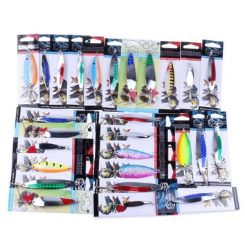 1pc Randomly Color Metal Hard Fishing lure artificial bait with Hooks #YL25