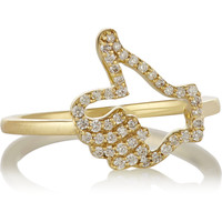 Finds - + Khai Khai Thumbs Up 18-karat gold diamond ring