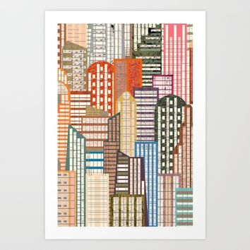 Theme For Great Cities Art Print by inkycubans