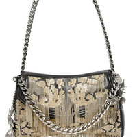 Alexander McQueen - Medallion embellished leather shoulder bag
