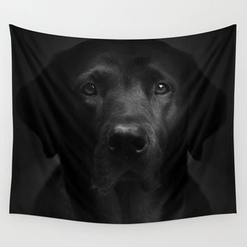 I met a girl (Black and white version) Wall Tapestry by HappyMelvin