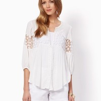 Naveah Embroidered Blouse | Tops - Fashion Apparel & Clothing, Abbey Road | charming charlie