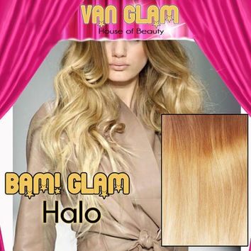 """Custom Blonde Ombre // BAM! Glam! // Halo Hair Extensions // 24"""""""