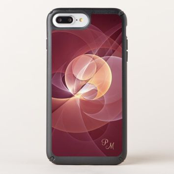 Movement Abstract Wine Red Pink Fractal Monogram Speck iPhone Case
