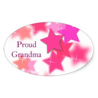 Proud Grandma Oval Sticker