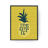 Pineapple Typography, Nursery Art, Fruit Print, Kids Learning, Classroom Decor, Kids Print, Children Poster, Educational Art, Baby Poster