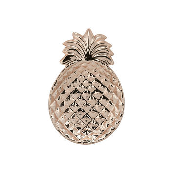 Rose Gold Ceramic 12-inch Pineapple Platter | Overstock.com Shopping - The Best Deals on Serving Platters/Trays
