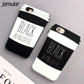 JAMULAR Beer Coffee Phone Case For iPhone 8 7 6 6s Plus Cover for iPhone 6 6s 7 Plus Cases Cover For iphone 7 Plus Shell Covers