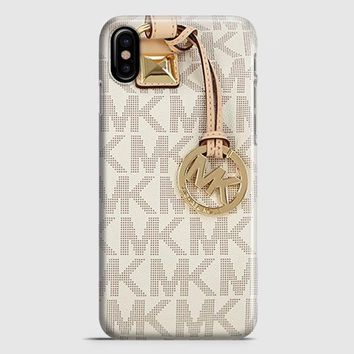 Michael Kors Mk Bag Texture Print iPhone X Case