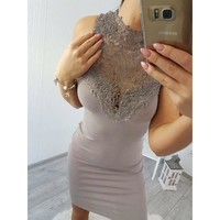 2019 The Newest Fashion Polyester Suit More Occasion Emmababy Women Lace Dress Bridesmaid Wedding Party Sling Dress