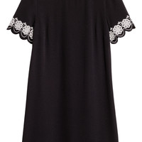 Short-sleeved dress - Black - Ladies | H&M GB